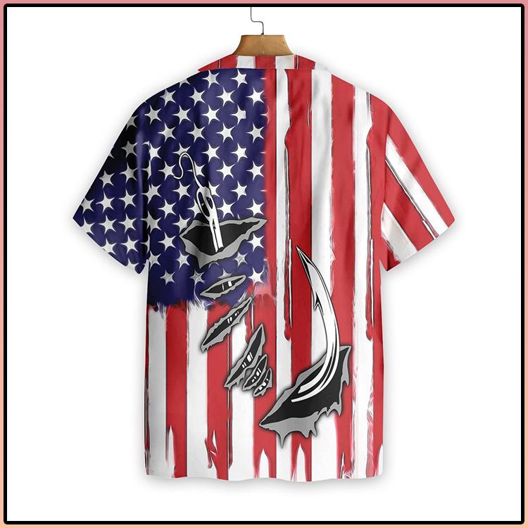 Fish Hook American Flag Hawaiian Shirt4