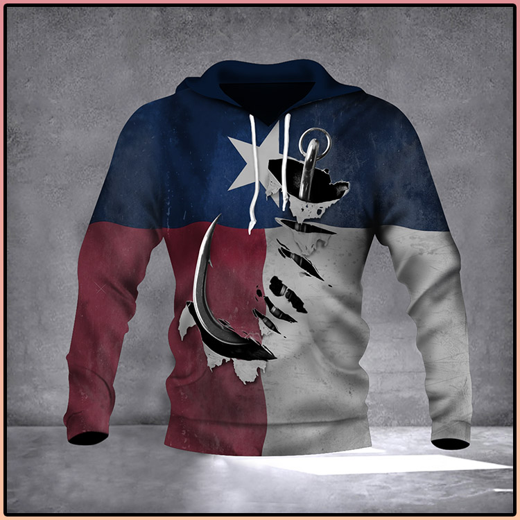 Fishing Hook Texas State Flag 3D Hoodie Old Vintage Pride Texan Hoodie Gift For Father2