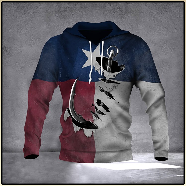 Fishing Hook Texas State Flag 3D Hoodie Old Vintage Pride Texan Hoodie Gift For Father3