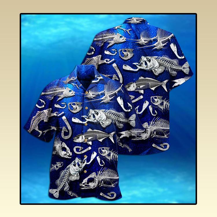 Fishing fishbone style Hawaiian shirt3