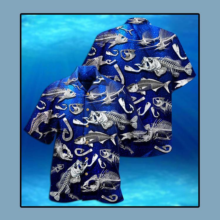Fishing fishbone style Hawaiian shirt4