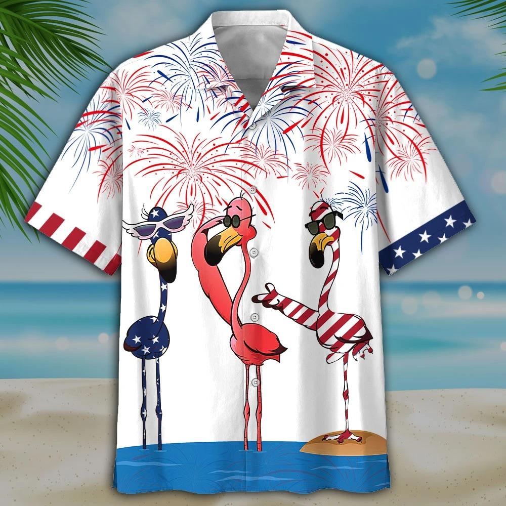 Flamingo Hawaiian Shirt and short1