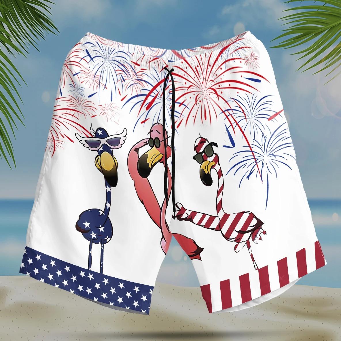 Flamingo Hawaiian Shirt and short14