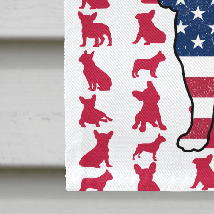 Frenchie American house flag and garden flag3