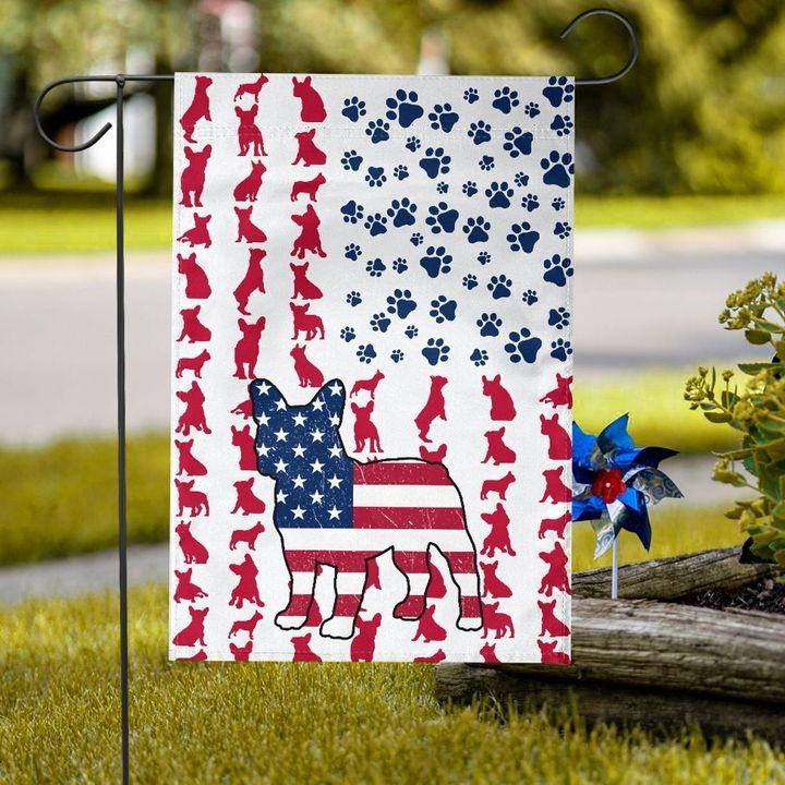 Frenchie American house flag and garden flag4