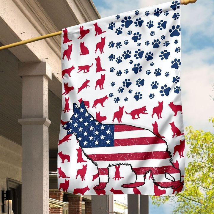 GSD Amercian house flag and garden flag4