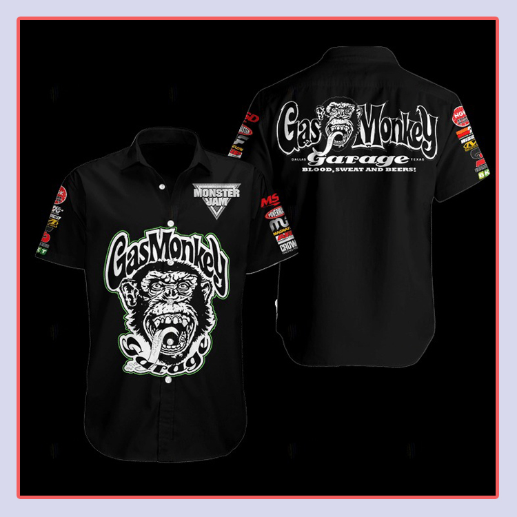 Gas Monkey Hawaiian Shirt1