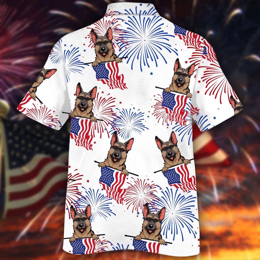German Shepherd Hawaiian Shirt2