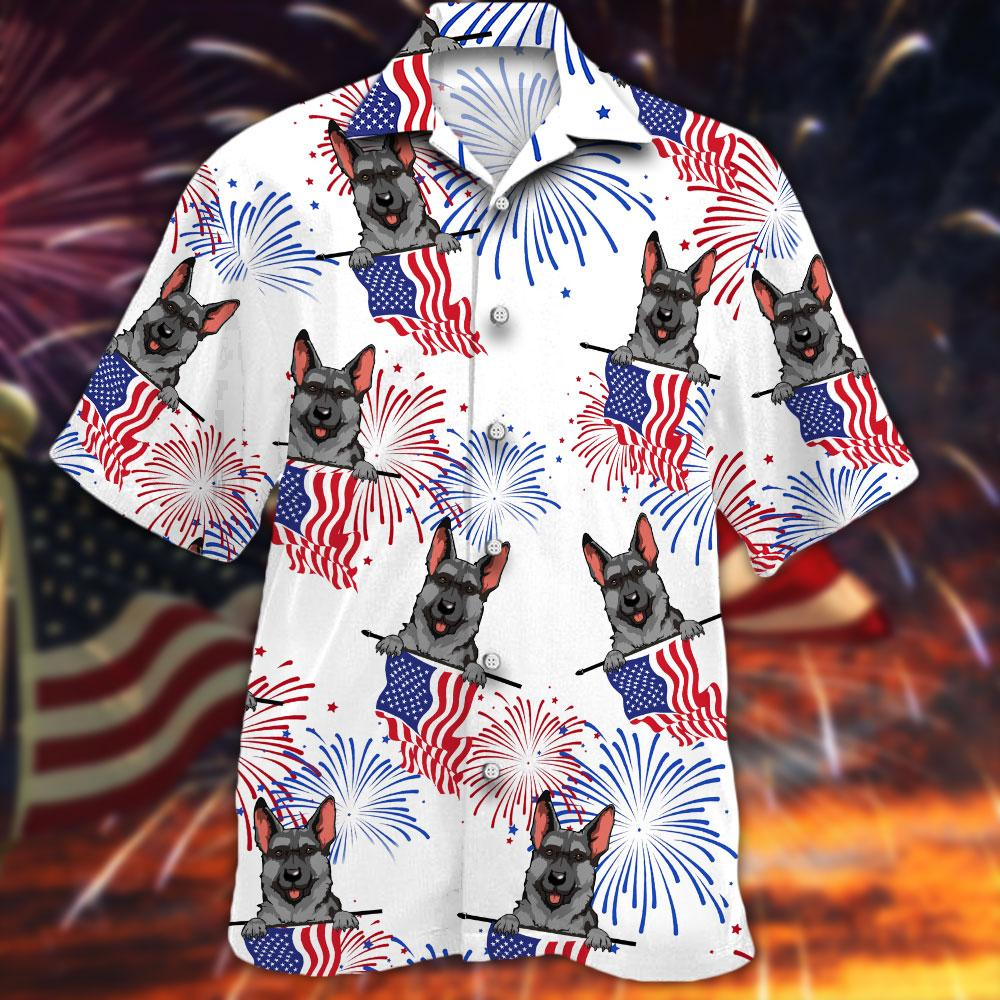 German Shepherd Hawaiian Shirt3