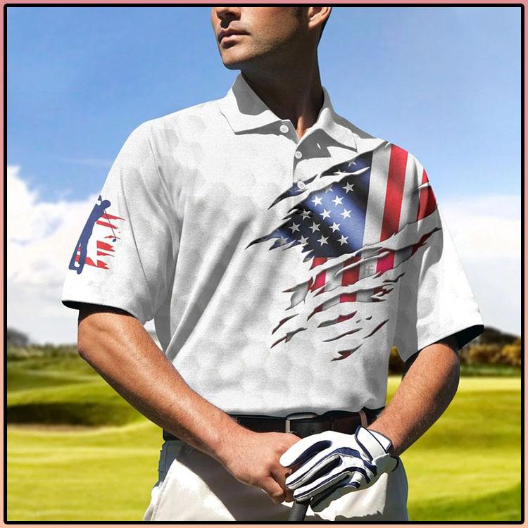 Golf American Flag Polo Shirt