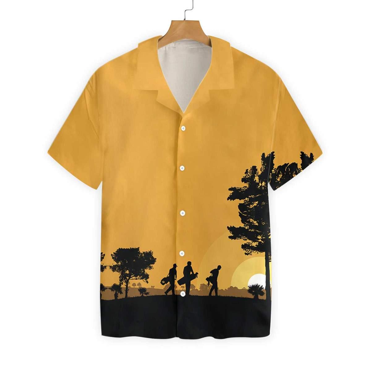 Golfers At Dusk Hawaiian Shirt2