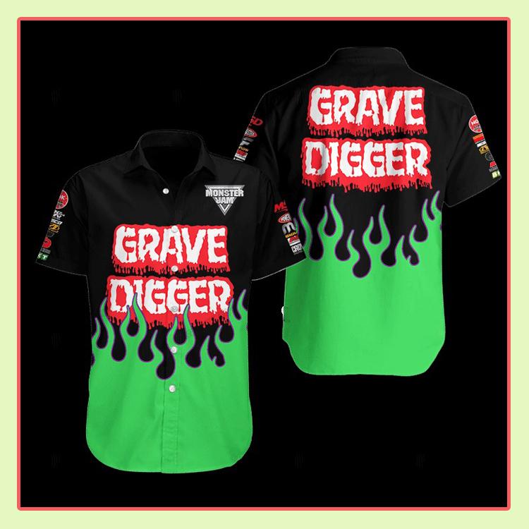 Grave Digger Hawaiian Shirt2