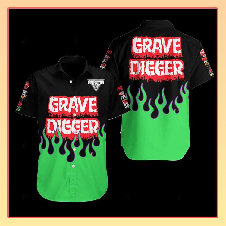 Grave Digger Hawaiian Shirt3