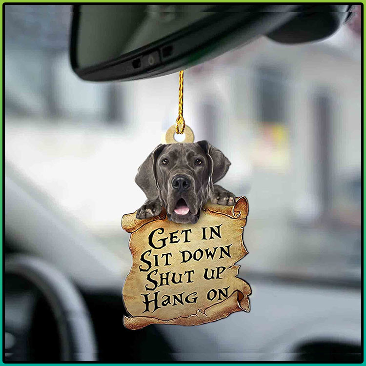 Great Dane get in sit down shut up hang out ornament4