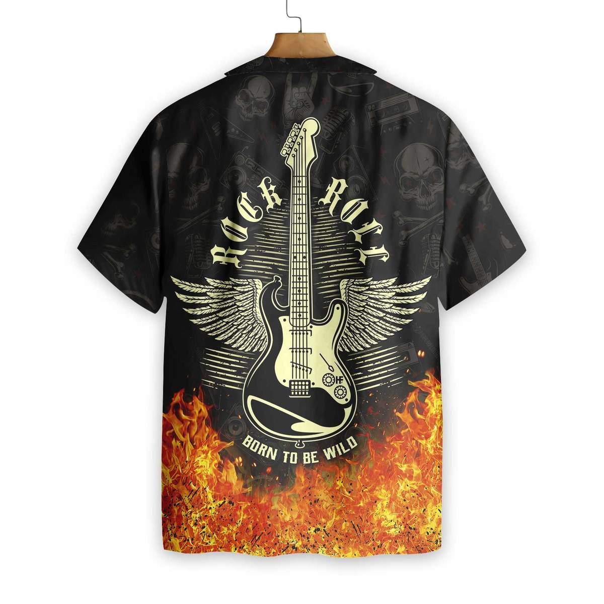 Guitar Born To Be Wild Hawaiian Shirt2