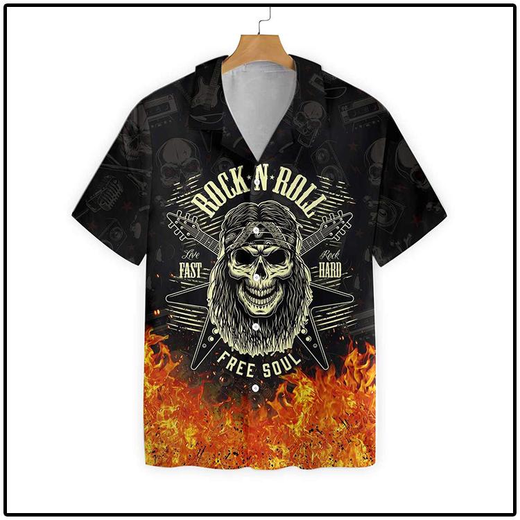 Guitar Born To Be Wild Hawaiian Shirt3