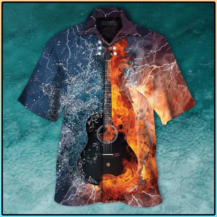 Guitar Fire and Water Hawaiian Shirt3