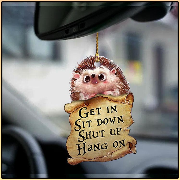 Hedgehog get in sit down shut up hang out ornament4