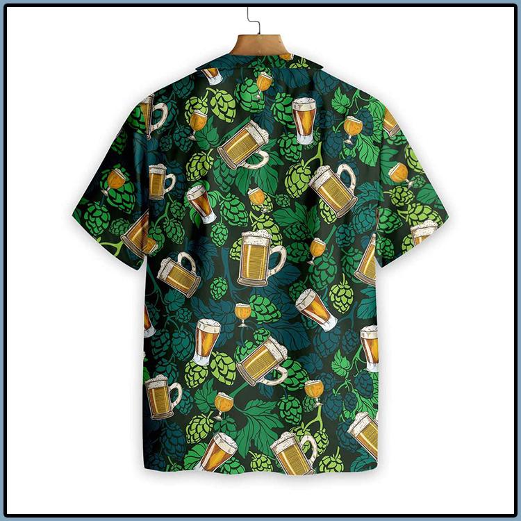 Hop Cones Beer Glass Hawaiian Shirt 3