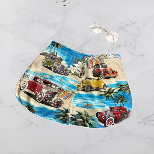 Hot Rod Hawaiian shirt and shorts3