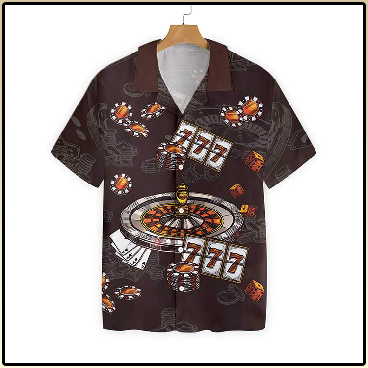 I Would Rather Be At The Casino Hawaiian Shirt3