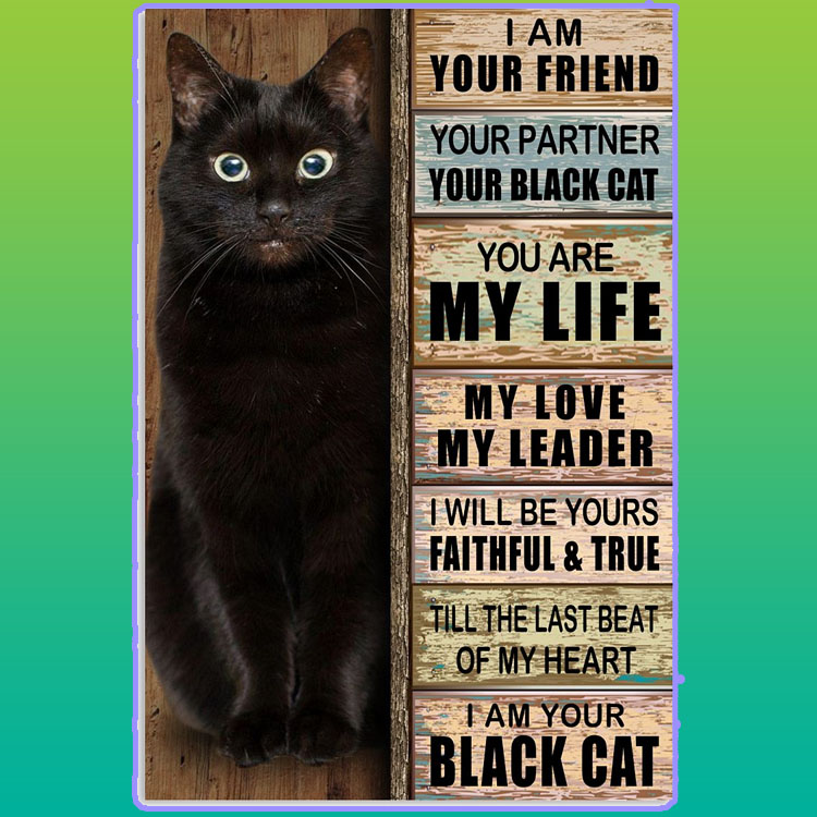 I am your friend your partner your black cat poster7