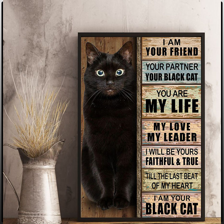 I am your friend your partner your black cat you are my life poster