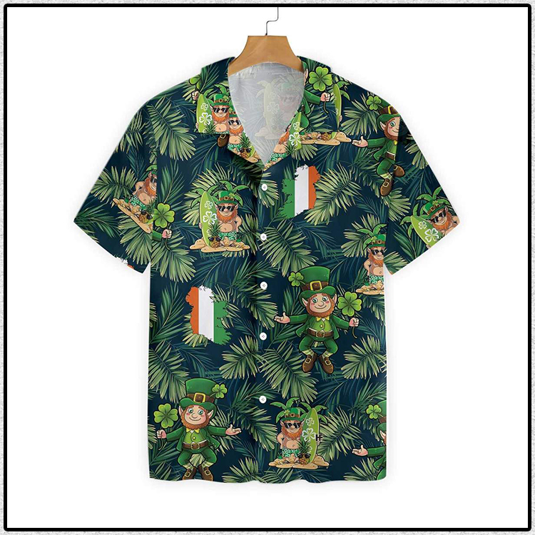 Irish People Proud Leprechaun Tropical Hawaiian Shirt3