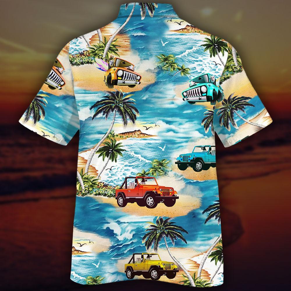 Jeeps Beach Hawaiian Shirt and Short2