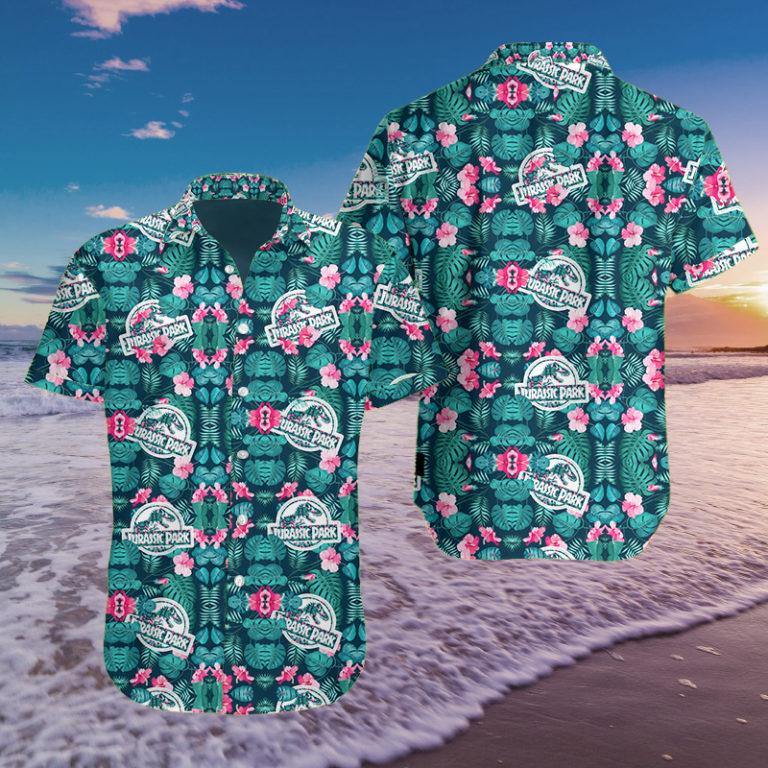 Jurassic park 3d hawaii shirt as