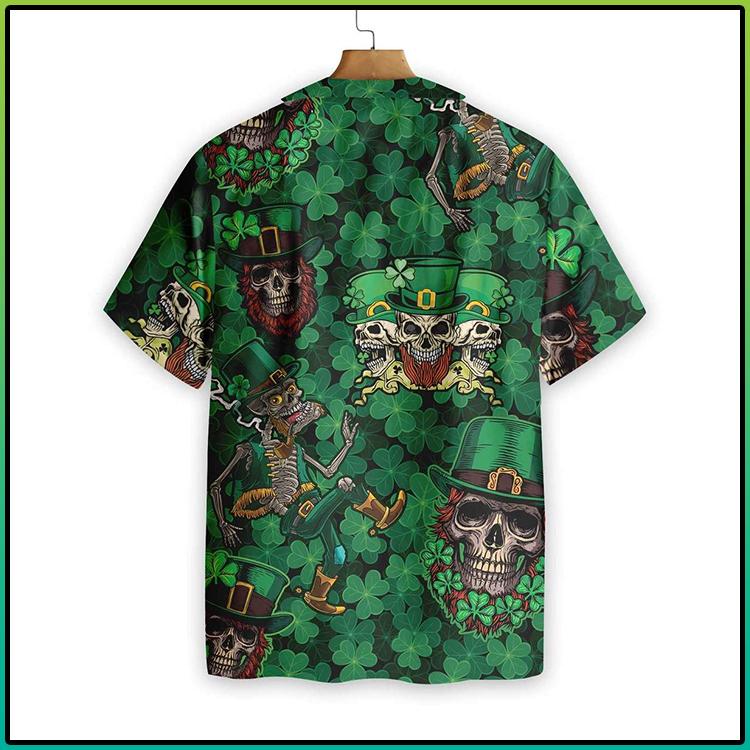 Leprechaun Skull Happy Saint Patricks Day Hawaiian Shirt3