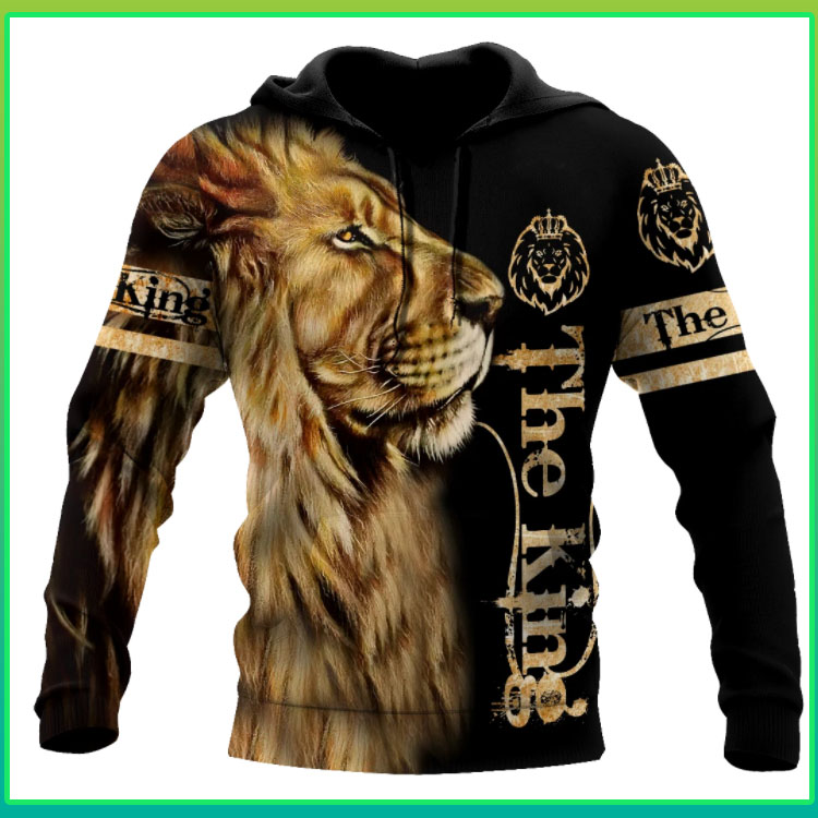 Lion the king 3D all over print 3d hoodie4