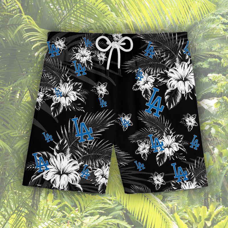 Los Angeles Dodgers Hawaiian Shorts2
