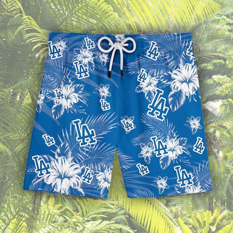 Los Angeles Dodgers Hawaiian Shorts3