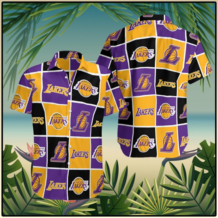 Los Angeles Lakers Pattern Team Hawaii Shirt3