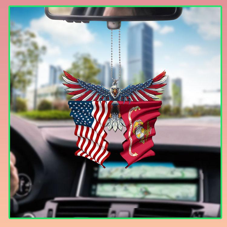 Marine corps United States American Eagle flag car hanging ornament7