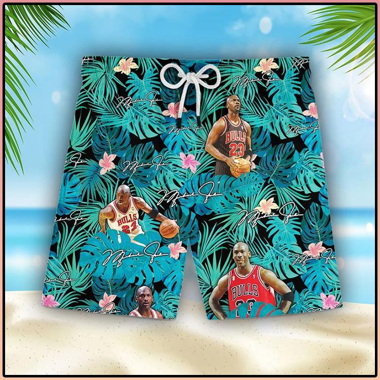 Michael Jordan Hawaiian Shorts5