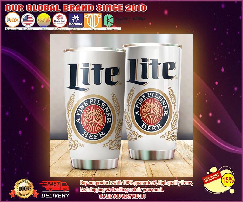 Miller Lite Beer tumbler 4
