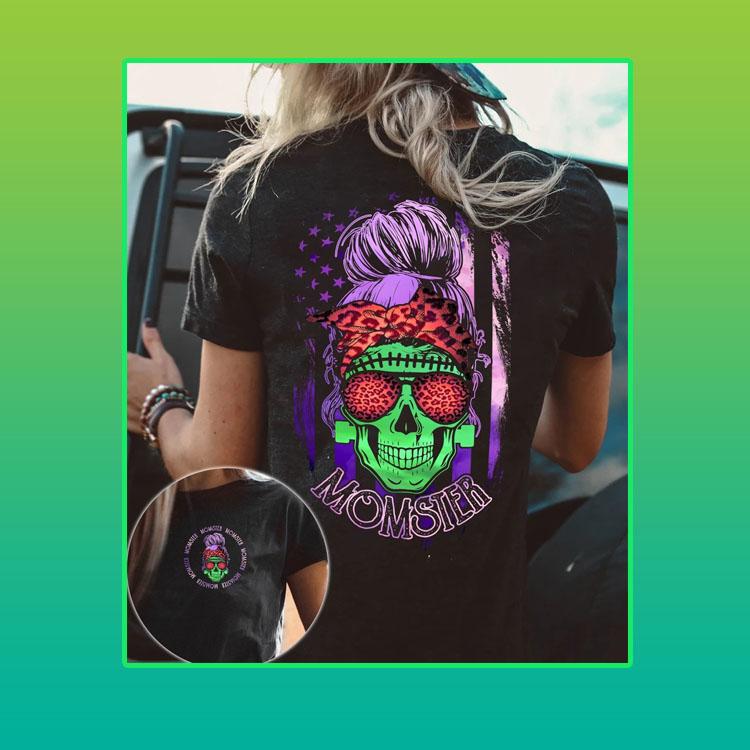 Mom Skull monster 3d over print shirt and hoodie4
