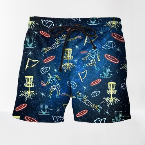 Neon Disc Golf Hawaiian shirt and shorts2