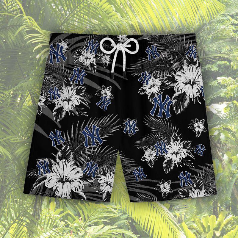 New York Yankees Hawaiian Shorts1