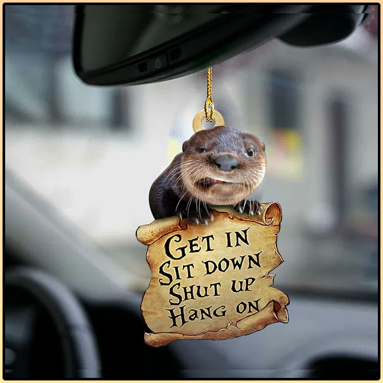 Otter get in otter lover two sided ornament4