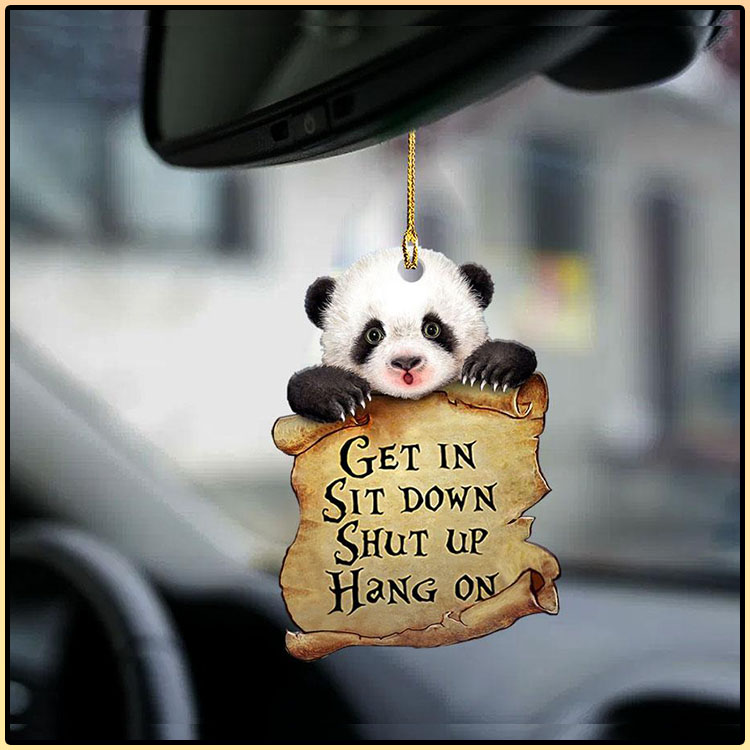 Panda get in sit down shut up hang out ornament4