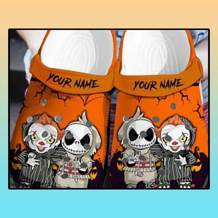 Personalized Jack Skellington And Pennywise Crocs croc crocband shoes 1