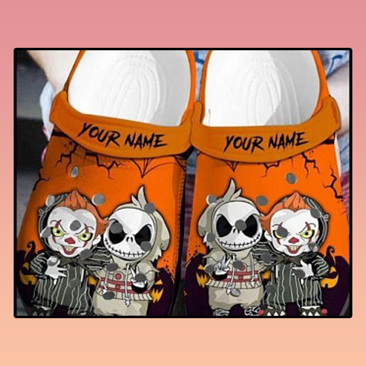 Personalized Jack Skellington And Pennywise Crocs croc crocband shoes 2