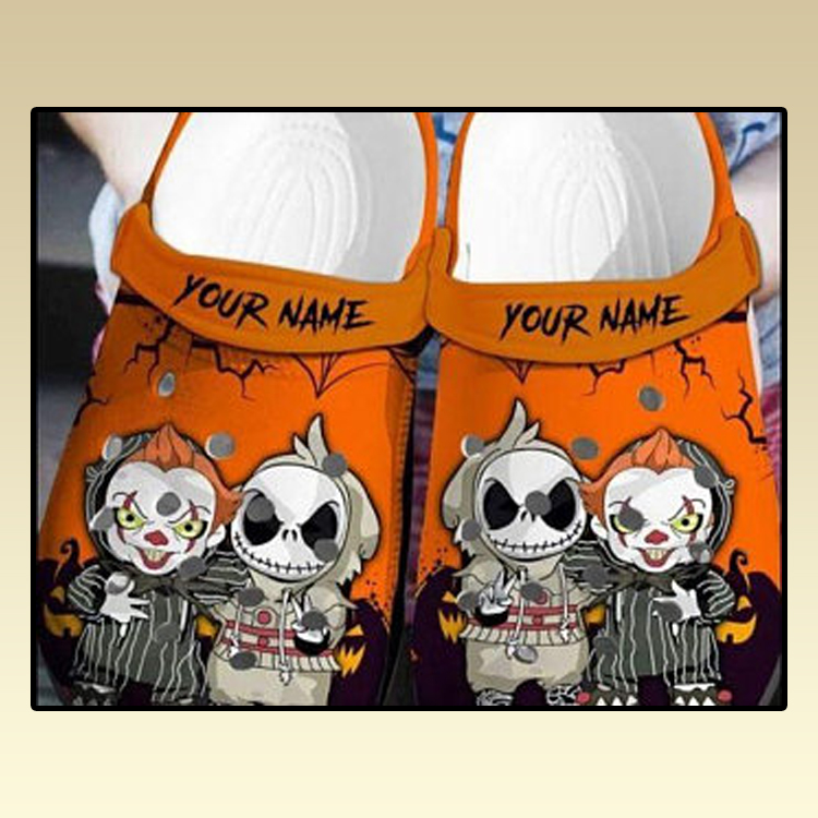 Personalized Jack Skellington And Pennywise Crocs croc crocband shoes 3