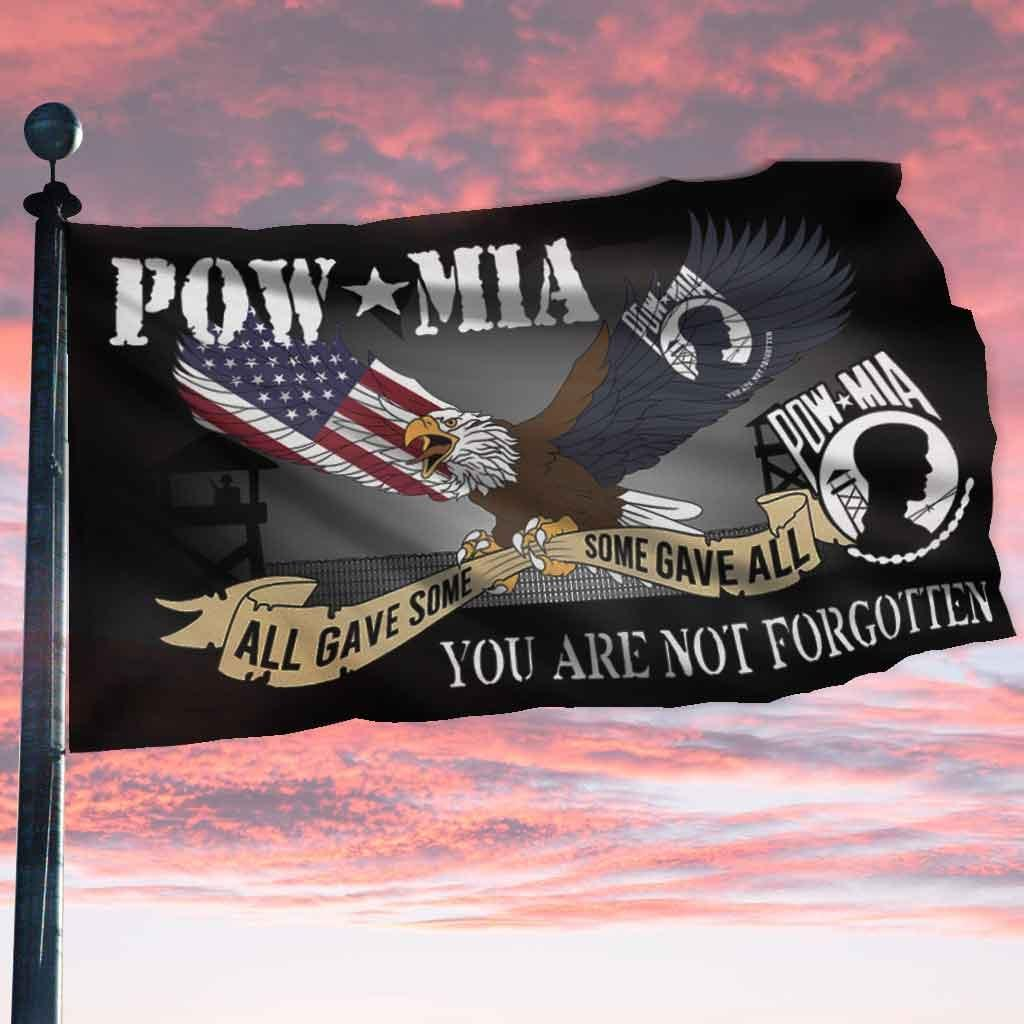 Pow Mia All Gave Some Some Gave All You Are Not Forgotten Flag1