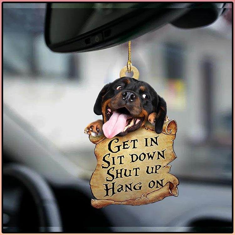 Rottweiler get in sit down shut up hang out ornament4