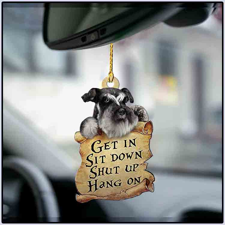 Schnauzer get in sit down shut up hang out ornament4