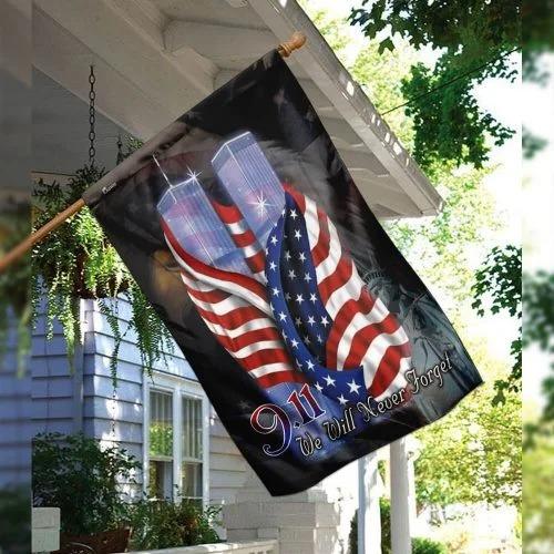 September 11th Never Forget Flag2